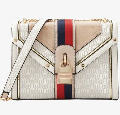 river island cream bag with shoulder straps