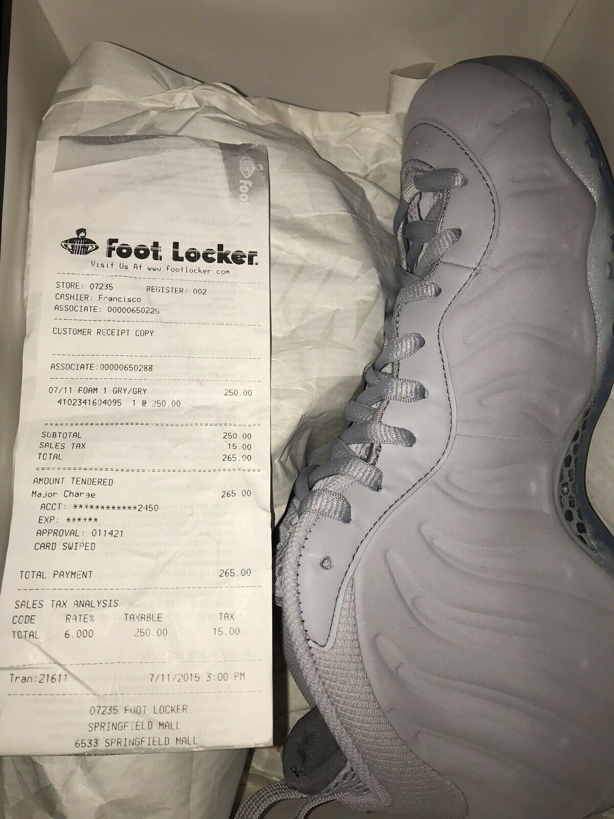 Nike Air Foamposite One, One, One, Wolf Grey, Grey Suede Size 9.5 BRAND NEW b91a89