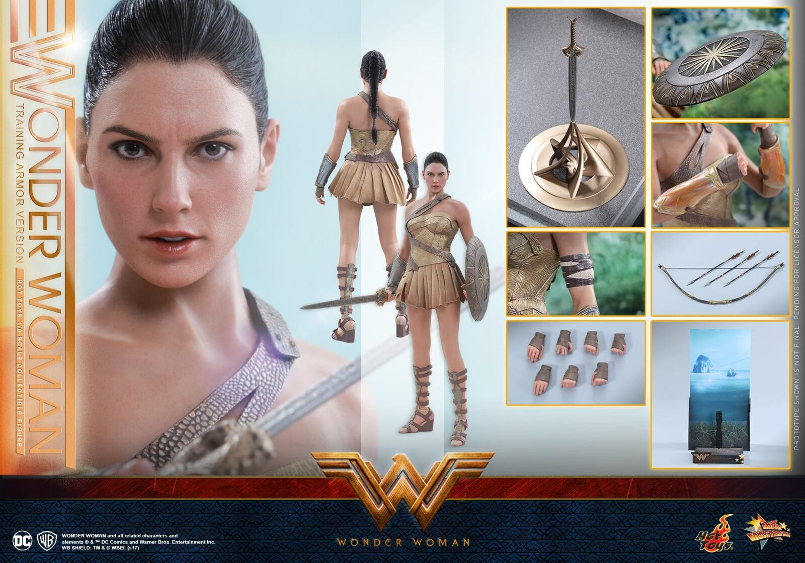 Hot Toys MMS424 Wonder Woman DIANA PRINCE Gal Gadot Training Armor Version New