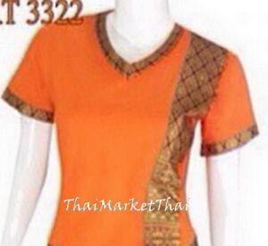 Top spa cloth shirt uniform women wear asian nail salon for Uniform spa thailand