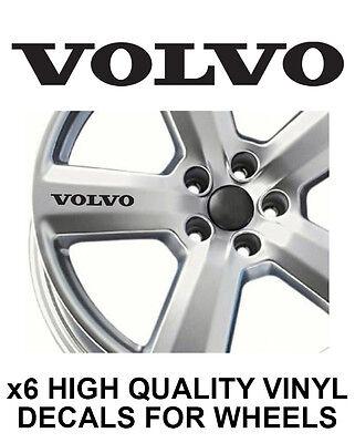 VOLVO ALLOY WHEEL STICKERS Graphics X6