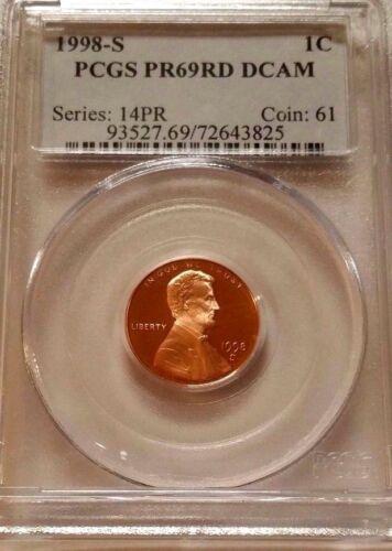 1998 S Lincoln Memorial Cent PCGS PR69 RD DCAM
