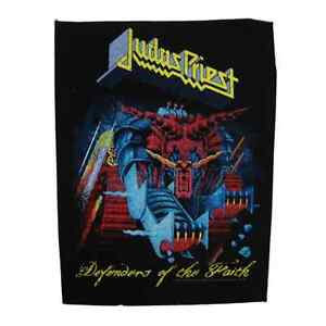 judas priest backpatch 39 defenders of the faith 39 back patch heavy metal. Black Bedroom Furniture Sets. Home Design Ideas