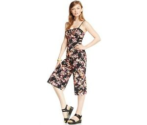 a0bd0162fea Image is loading NWT-MATERIAL-GIRL-FLORAL-GAUCHO-JUMPSUIT-JUNIORS-SIZE-