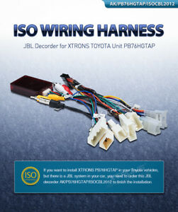 For Toyota Unit ISO Wiring Harness Car Stereo Adapter Connector ...