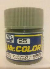 Gunze Sangyo Mr Color C-25, Semi-gloss Dark Sea Grey.