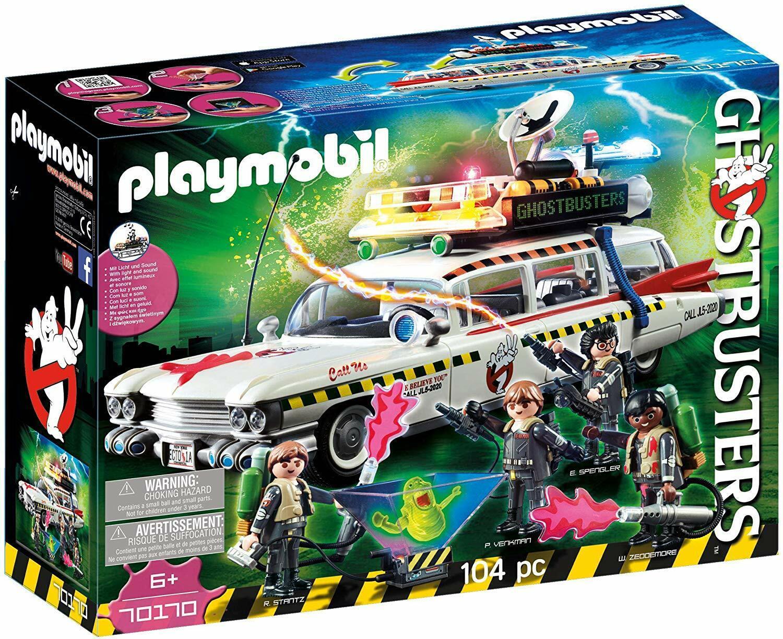 Playmobil Cazafantasmas 70170. Coche Ecto-1A con 4 figuras. Más de 6 años