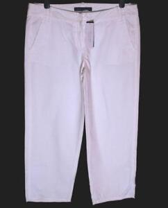 New-Women-039-s-French-Connection-Trousers-Capri-L28-034-Short-Leg-Wash-amp-Wear-White