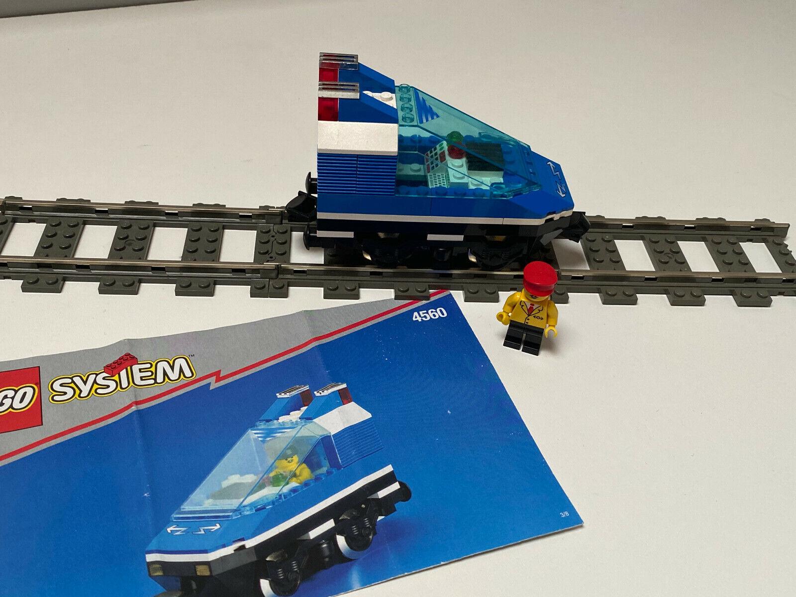 Lego 9V Eisenbahn TRAIN 4560 Lok + 9V Motor und Licht mit Anleitung CARGO Stadt
