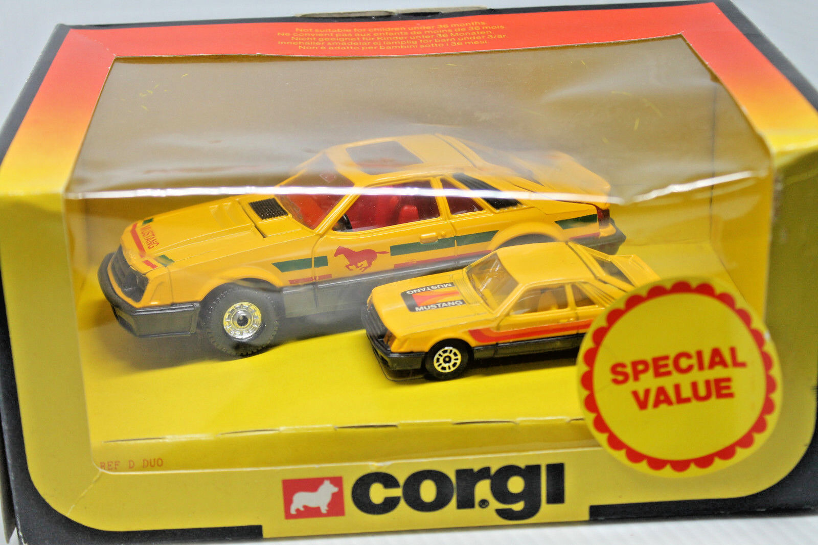 CORGI TOYS  FORD MUSTANG  Large & Little  OVP  1981