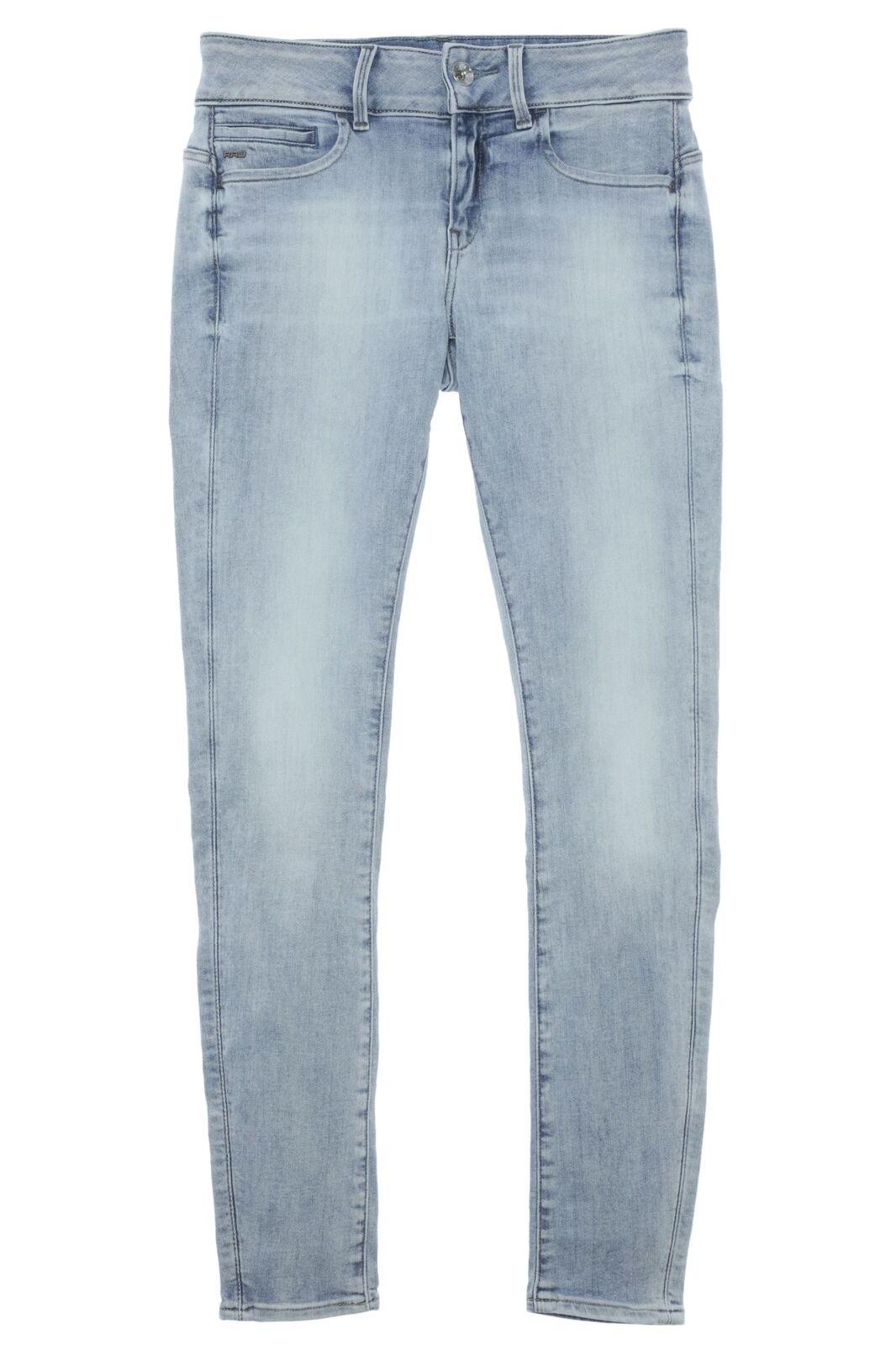 G Star Midge Cody MID Skinny Jeans Hose Pants Damen Super Stretch Used LT Aged