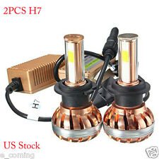 2PCS 120W H7 Car Light CREE LED 12000LM Headlight Kit 6000K White Auto Bulb Lamp