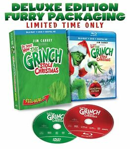 Dr-Seuss-039-How-The-Grinch-Stole-Christmas-DVDs-amp-Blu-ray-Deluxe-Limited-Edition