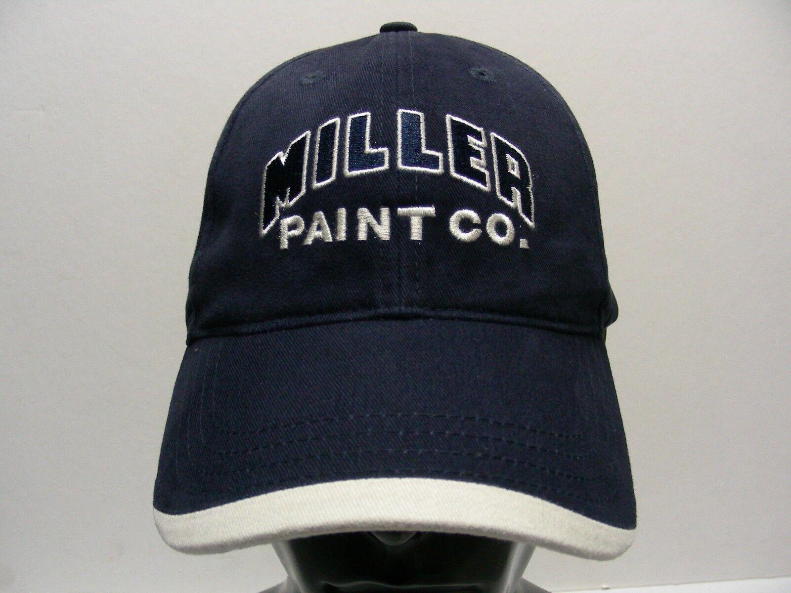 MILLER PAINT CO. - NAVY BALL BLUE - ADJUSTABLE STRAPBACK BALL NAVY CAP HAT ac51ec