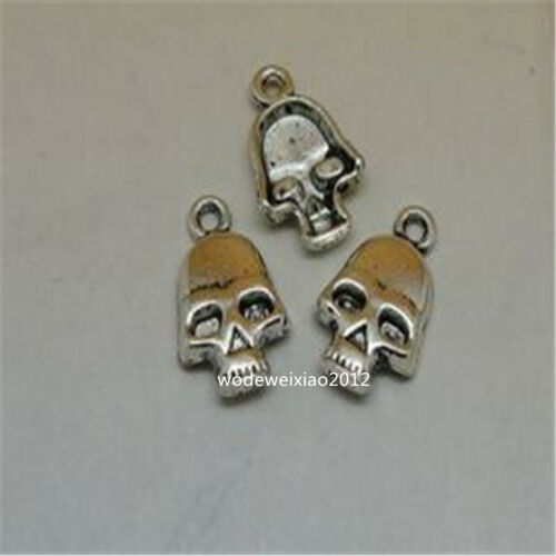20pc Retro Tibetan Silver SKULL Charm Beads Pendant accessories Findings JP670