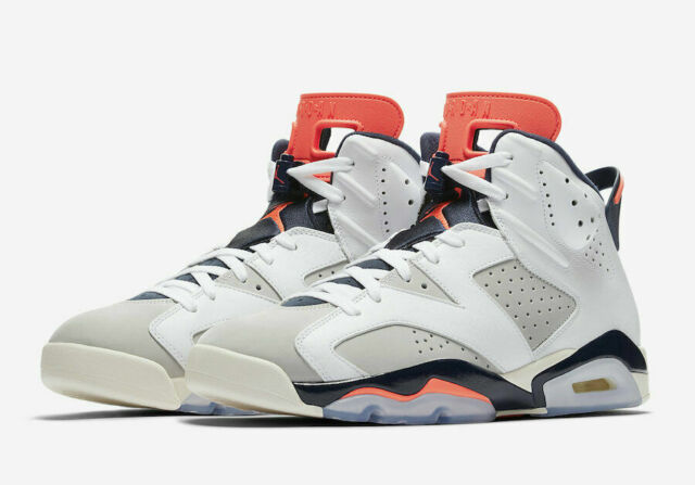 purchase cheap 8240d 53e7d Nike Air Jordan 6 Retro Tinker Hatfield White Infrared 23 Grey Authentic  Size 10