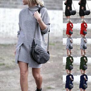 Women-Ladies-Baggy-Sweater-Jumper-Mini-Dress-Winter-Long-Pullover-Top-PocketPLUS