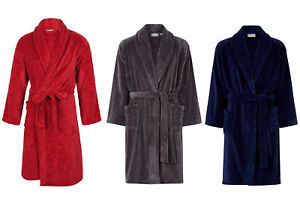 Walker Reid Bath Robe Mens Wrap Around Luxury Fleece Dressing Gown