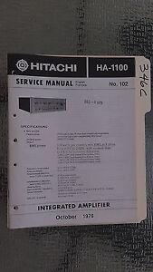 Hitachi-ha-1100-service-manual-original-repair-book-stereo-power-amp-amplifier