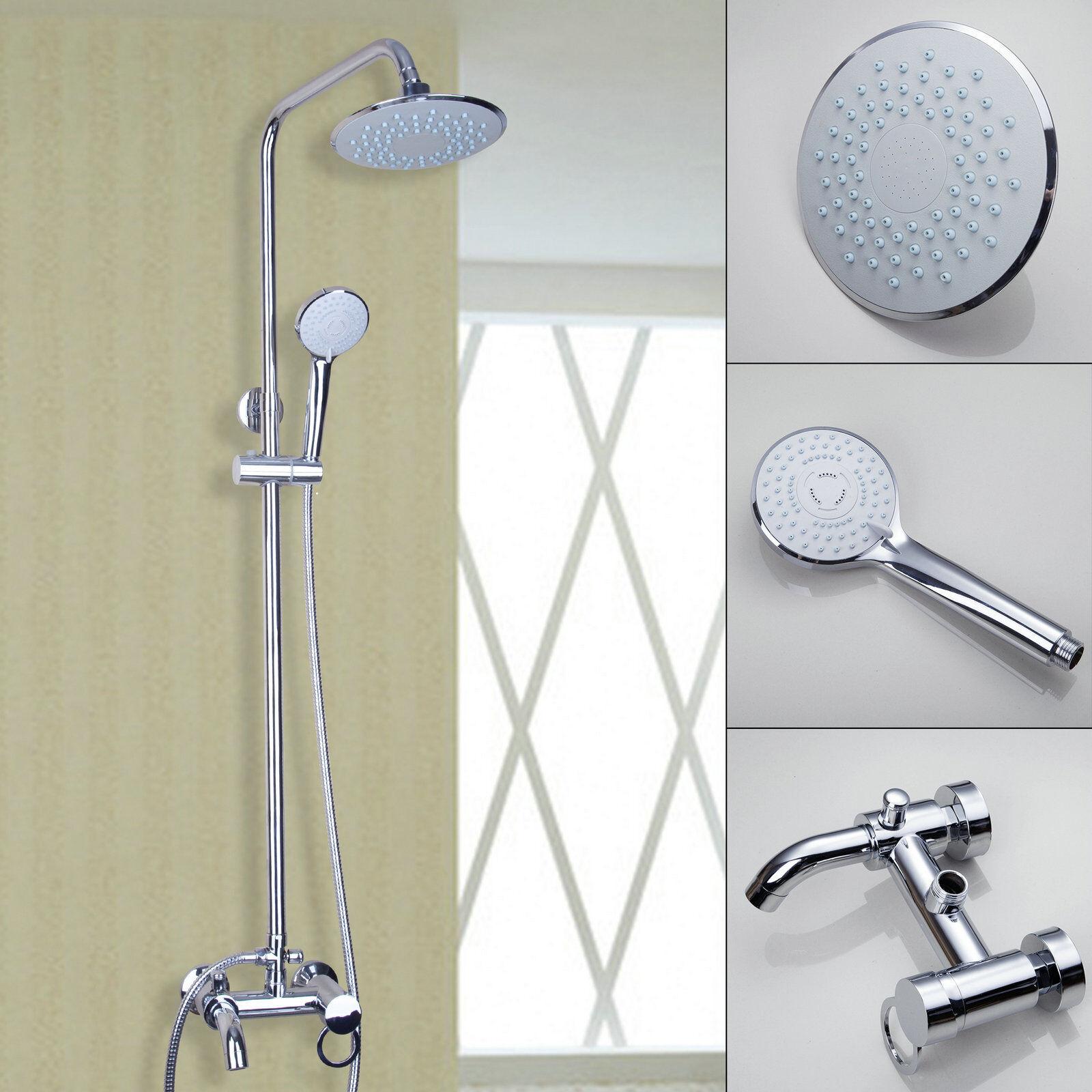 Support Mural 8  Salle de bains douche de pluie robinet de baignoire mitigeur douche à main