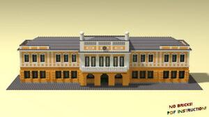 Lego Townhall Of Nyiregyhaza Building Instructions Moc Pdf Html Ldd Ebay