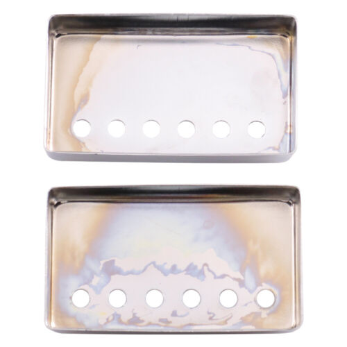 Pair of Chrome Metal Humbucker Covers for Electric Guitars 52mm Spacing