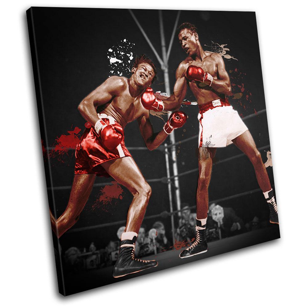 Sugar Ray Robinson Boxing  Sports SINGLE LONA pa rojo impresion  arte Foto impresion rojo f62e85