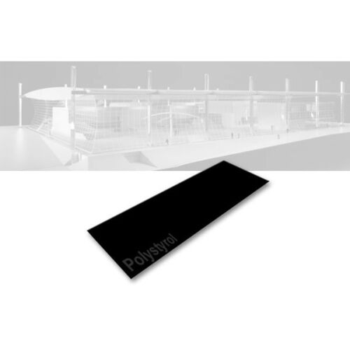 2,00x200x530mm Evergreen 9117 Polystyrolplatte schwarz 2 Stück