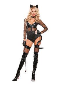 Sexy-Starline-Black-Feline-Midnight-Cat-Wet-Look-Fishnet-Bodysuit-Costume-S5146