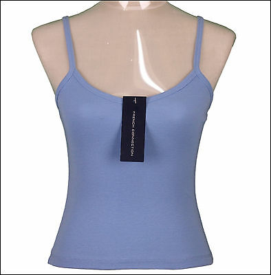 Bnwt Woman/'s French Connection Strappy Top Vest Xsmall RRP£35 New Blue Fcuk