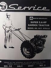 Sears Db David Bradley Walk Super 56hp Garden Tractor Service Manual 917575112