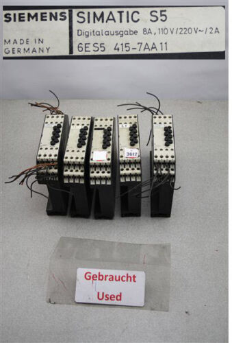 Siemens 6ES5415-7AA11 Simatic S5 6ES5 415-7AA11 Digitalausgabe 8A 110V//220V 2A