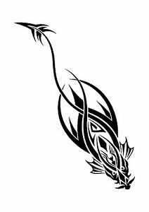 Diving dragon tattoo style stencil 350 micron mylar not for Stencil stuff tattoo