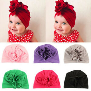Cute Kids Baby Girls Turban Knot Head Wrap Indian Hat Cotton Cap Warm Winter