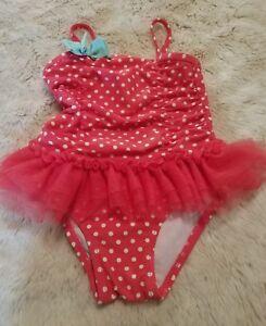 008d38ab5f Circo Swimsuit Girls One Piece Size 18 Months EUC Ruffle Polka Dots ...