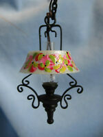 Dollhouse Doll House Miniature Electric Chandelier Hanging Lamp
