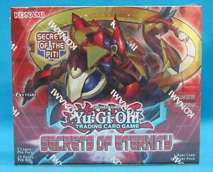 Konami-Yu-Gi-Oh-Secrets-of-Eternity-24-Pack-Booster-Box-Yugioh-1st-Edition-New