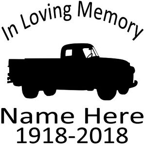 In-Loving-Memory-Vinyl-Decal-Sticker-Personalized-Custom-Car-Window-Old-Truck