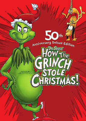 HOW THE GRINCH STOLE CHRISTMAS (DVD, 2009, Animated Deluxe Edit) NEW WITH SLEEVE