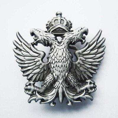 * Adler Wappen Doppeladler Biker Gürtelschnalle Belt Buckle *534 Reisen