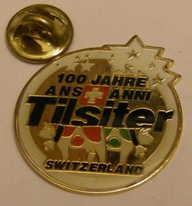 TILSITER-CHEESE-TILSIT-SWISS-cows-100-years-vintage-pin-badge-Z4X