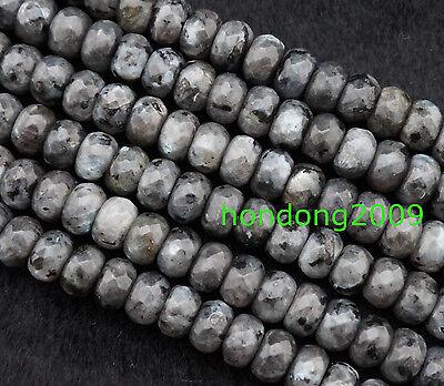"NATURAL 5x8mm Faceted   Labradorite Rondelle gemstone lose Beads 15""L"