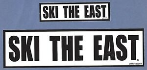 (2) TWO SKI THE EAST SKI SNOWBOARD STICKERS DECALS (1 SMALL & 1 LARGE STICKER)