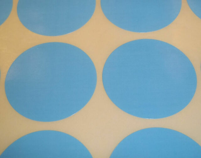 300 Light Blue 45mm 1 3/4 Inch Colour Code Dots Round Stickers Sticky ID Labels