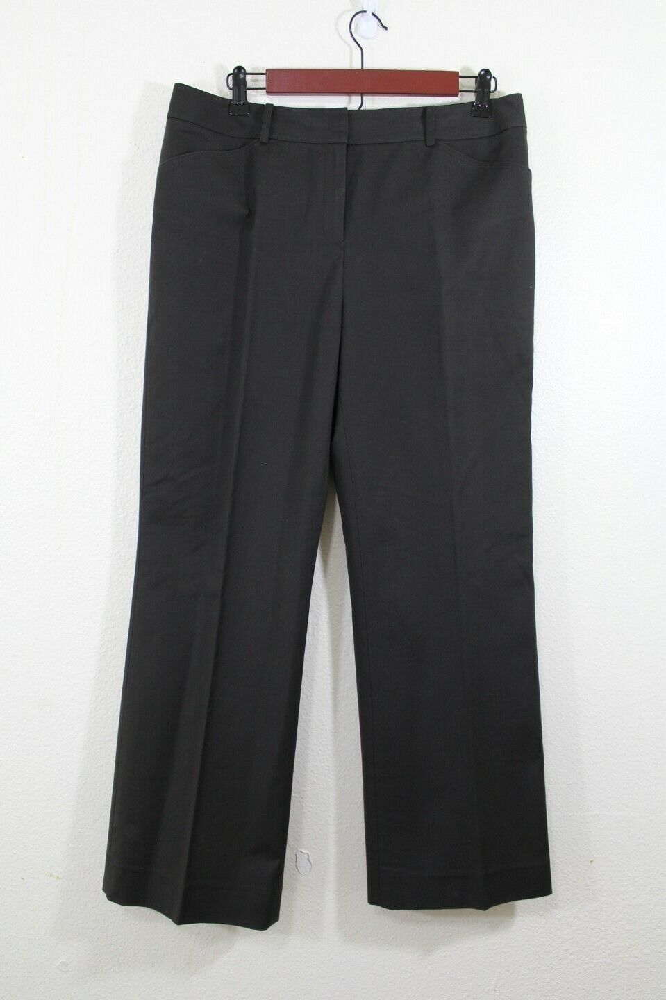 Lafayette 148 new york size 8 woman pants dark brown fitted stretch trousers