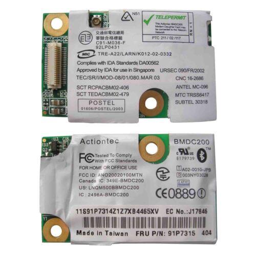 Bluetooth Card for IBM Thinkpad BMDC200 91p7297 91p7315 T40-T42 R50 R51 X40 X3