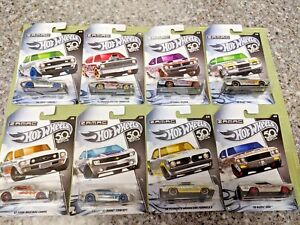 2018-Hot-Wheels-50th-Anniversary-ZAMAC-Set-of-all-8-Cars-Flame-or-Select