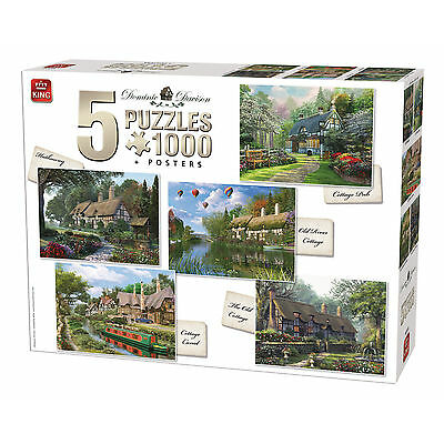5 in 1 1000 Piece Countryside Cottage Classic Collection Jigsaw Puzzles 85532