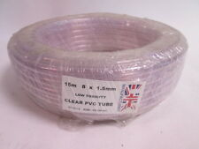 15M Roll of 1.5mm Thick Wall 8mm ID Clear PVC Pipe Tube Airline Hose #8N4