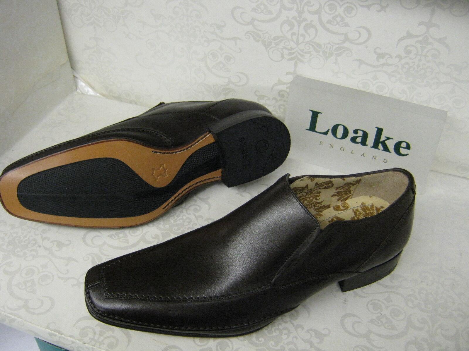 Herren Loake Matthews Dark Smart Braun Leder Smart Dark Slip On Schuhes 4af62c